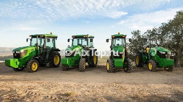 Модельный ряд тракторов John Deere