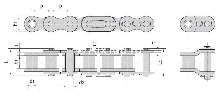 Цепь приводная схема
