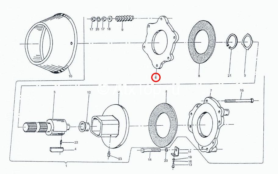 disk-levyj-mufty-stsepleniya-sipma-z-224-4