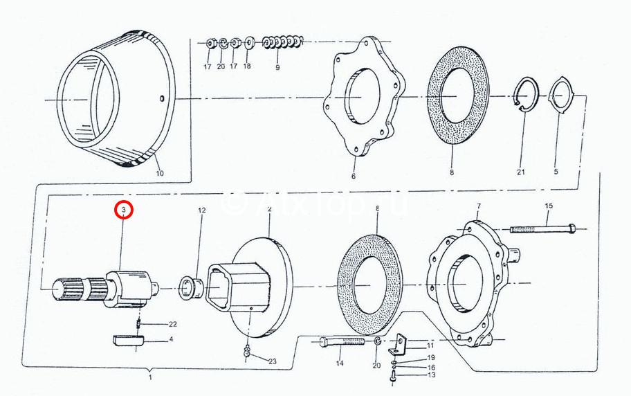 val-na-6-shlitsov-privodnoj-mufty-z-224-4